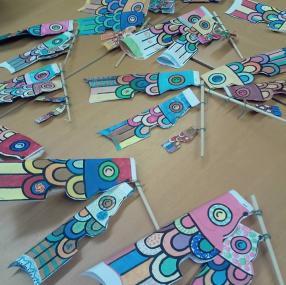 Koi Nobori décorés